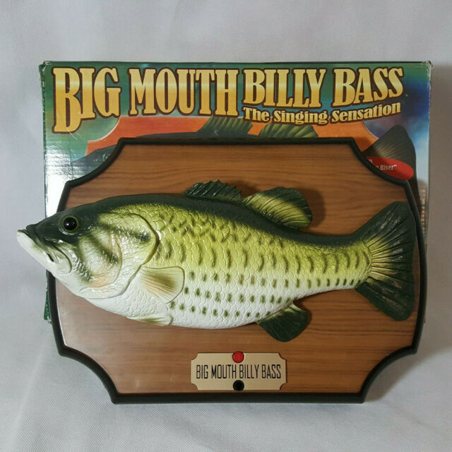 1999 Big Mouth Billy Bass Gemmy Singing Fish Sensation Don't Worry Be Happy