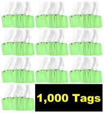 1000 Pcs Of 4 34 X 2 38 Size 5 Green Cardstock Hang Tag Tags With Wire 13 Pt