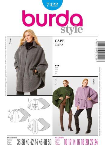 Sewing Patterns Burda Women Coats /& Jackets