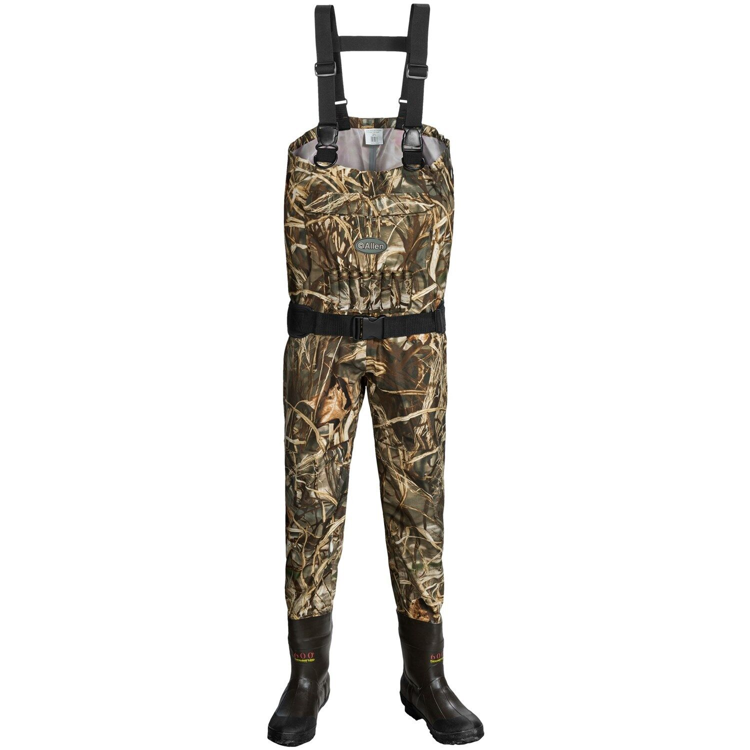 Allen Co bluee Bill Breathable Camo Hunting Chest Waders Insulated Boot - Size 8