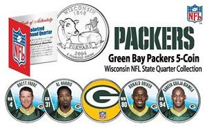 2009 GREEN BAY PACKERS Wisconsin STATE QUARTER NFL 5-COIN SET