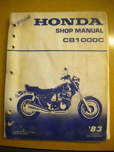 Honda 1983 CB1000C CB1000 Shop Manual 314 Pages 24 Sections No Back Jacket Cover