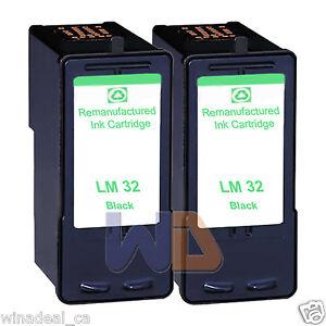 2-Black-Lexmark-32-Ink-Cartridge-For-X3330-X5250-X5450-X3350-X5270-X5470-Printer