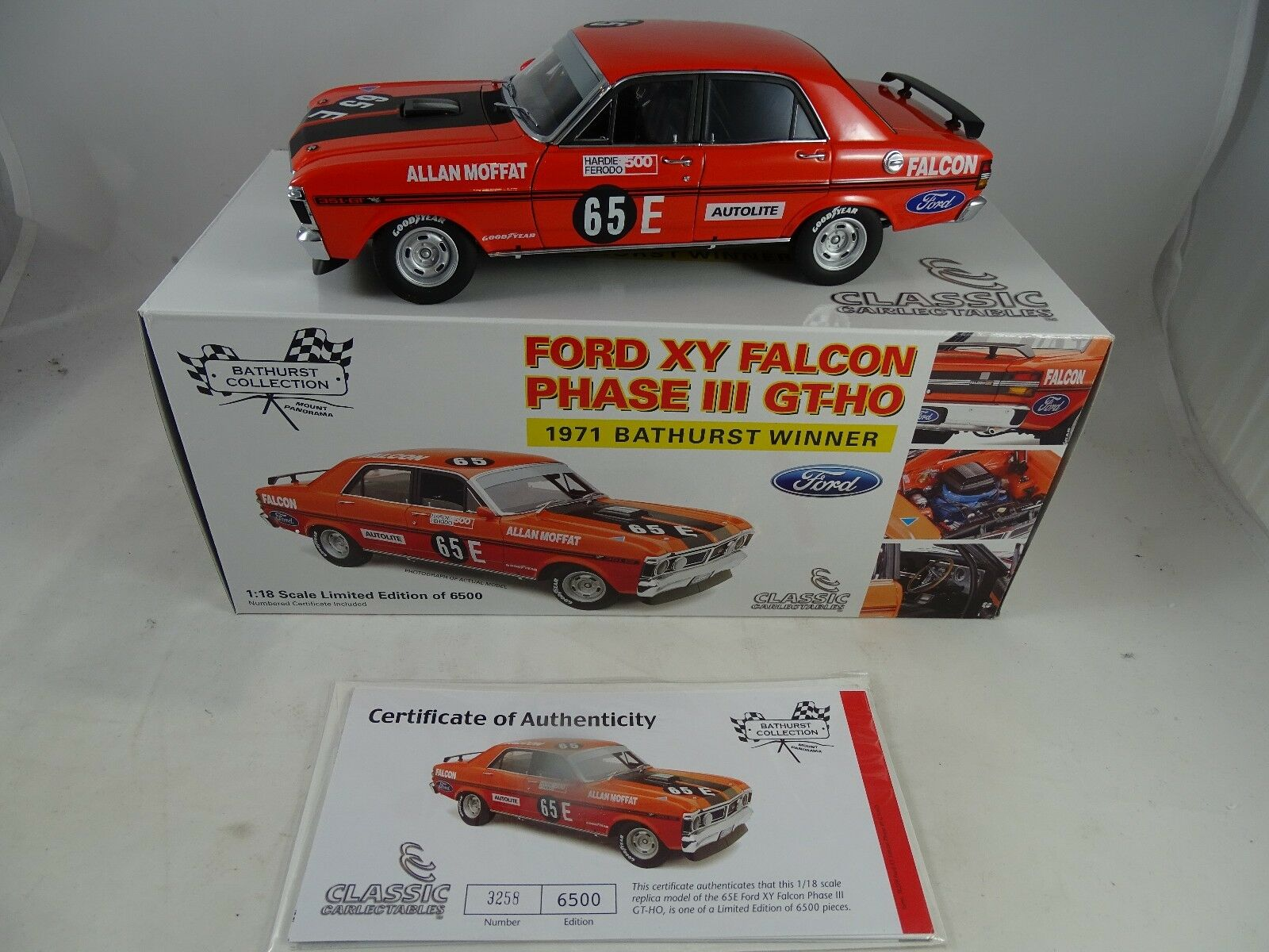 1 18 Classic voiturelectibles 18229 Ford XY Falcon Phase 3 GT HO  65E LmtdEd.RARITÄT