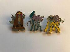 Pokemon Set of all 3 Legendary Beast Collector Pins - Entei Raikou Suicune!!