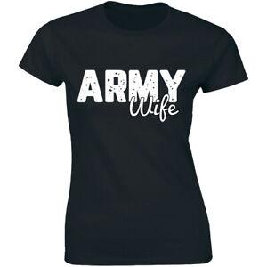 Army-Wife-Womens-Military-Wife-Superhero-Shirt-Women-039-s-Premium-T-shirt-Tee