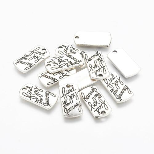BULK Charms Quote Charms Word Pendants Find Joy in the Journey Silver 50pcs