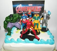 Avengers Age of Ultron Cake Toppers Set of 6 with Hulk. Thor, Iron Man and More!