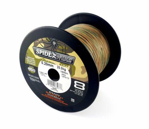 0,09€//m SPIDERWIRE Stealth Smooth 8 Camo 8-fach geflochtene Angelschnur je 25m
