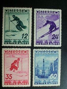 ANK 623/26, FIS II, saubere Marken mit Falzrest,  KW 95,-