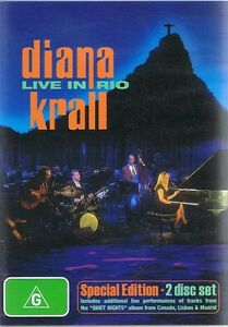 DIANA-KRALL-Live-In-Rio-Special-Edition-2-x-DVD-BRAND-NEW-amp-SEALED-Free-Post