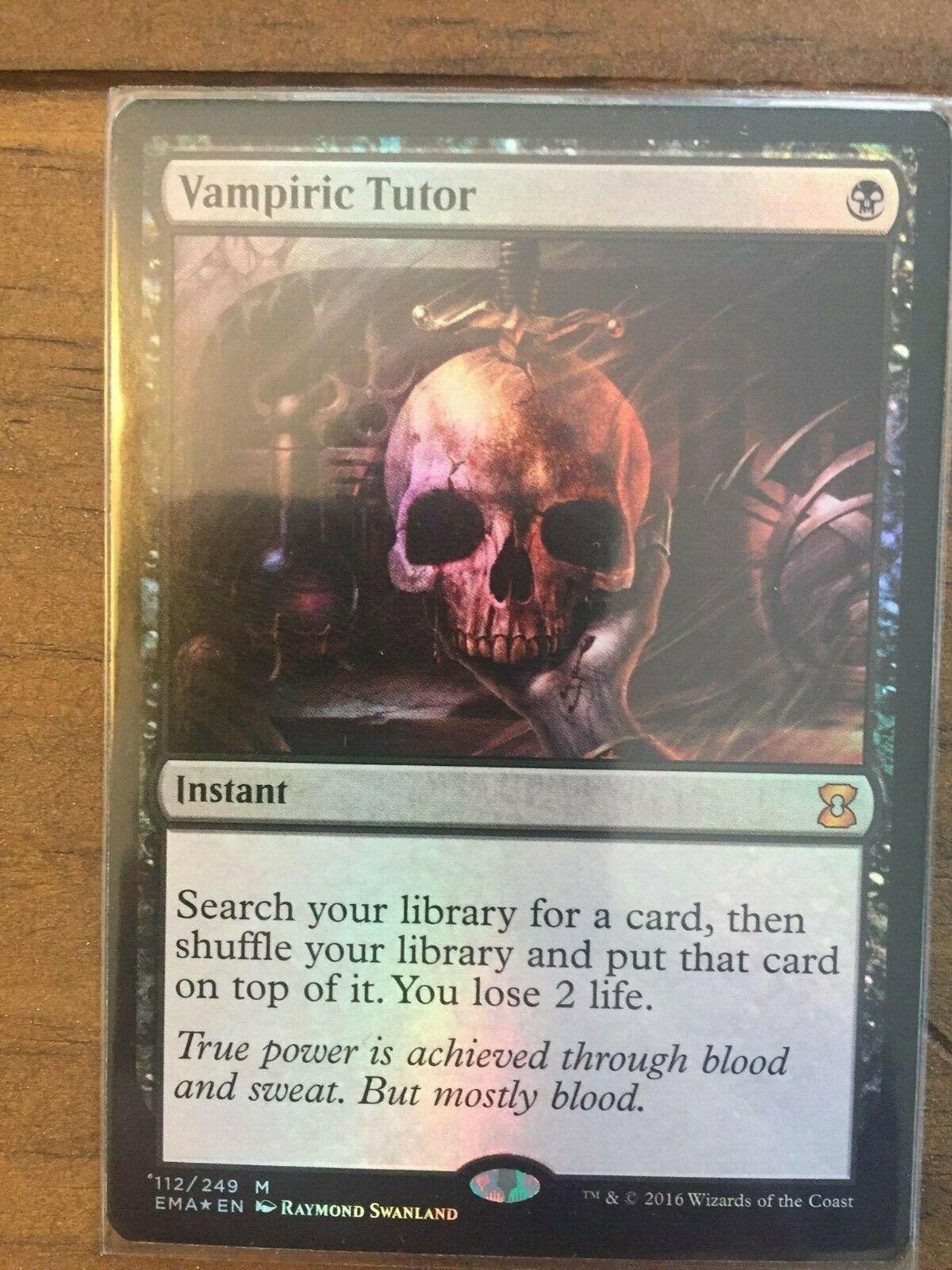 Vampiric Tutor  x1 mtg foil Eternal masters.