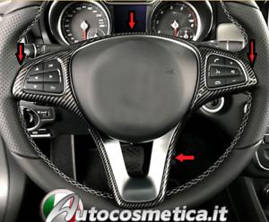 Modanature cornice volante sterzo abs carbonio Mercedes Benz A B C GLC E GLA+