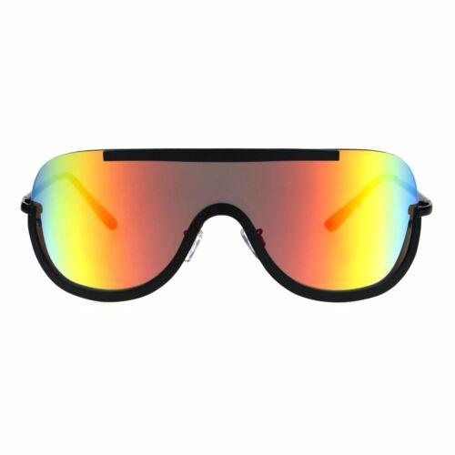 Futuristic Sunglasses Unisex Oversized Shield Frame Mirror Lens UV 400