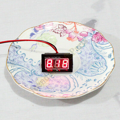 Waterproof Monitor 12V Battery Meter 2.5-30V DC Auto Gauge Digital Voltmeter LED