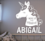 """UNICORN I WOKE UP THIS MAGICAL PERSONALIZED NAME LARGE 22/"""" TALL WALL VINYL DECAL"""