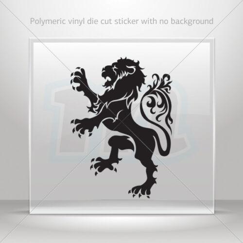 Decals Sticker Heraldic Lion Atv Bike polymeric vinyl Garage st5 X5357