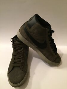 High Top Bog Nike Sb Green Black 310801 Blazer Suede Mens Sneakers htsQrCxd