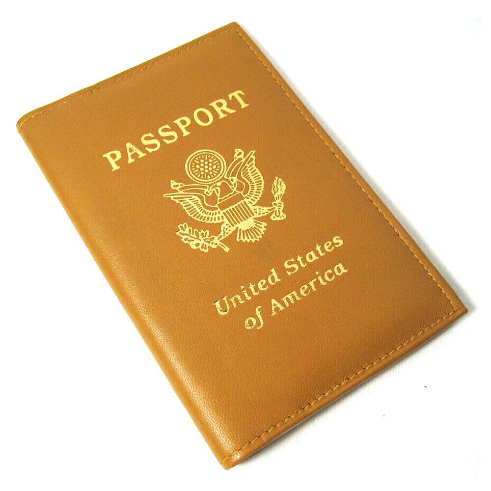 1 Slim Cuir Véritable Voyage Passport Portefeuille Support Rfid Carte Étui Cache