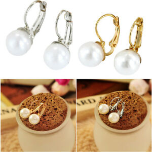 1par-Mujer-Elegante-Pendientes-de-Perlas-Simple-Moda-Regalo-de-la-Joyeria