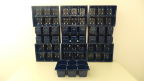 Multi cella 6 CELLE impianto Seme Vassoi Alta Qualità Nuovo In Blu
