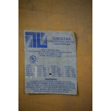Tokistar Low Voltage Lighting Transformer T22 1000 New Old Stock