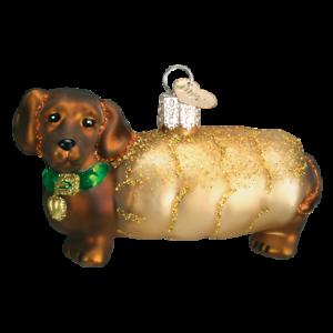 Old-World-Christmas-WIENER-DOG-12247-N-Glass-Ornament-w-OWC-Box