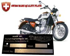 SUZUKI GS550D Data PLATE HEADSTOCK FRAME Typenschild ALU Anodised Aluminum Plate