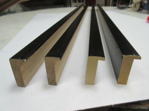 4 X 1 m perfil de profundidad tradicional Caja de Madera Negra Marco Moldeo por 20x45mm