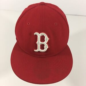 0b9d97fe BOSTON RED SOX 59 FIFTY NEW ERA BASEBALL FITTED HAT 7 1/8 RED WOOL ...