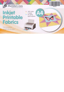 Quilting Patchwork Matilda/'s Own Inkjet Printable Fabric 5 pack New