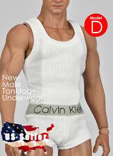 1/6 Men Tank Top Underwear Set D For Phicen M30 M31 M32 Male Figure Body ❶USA❶
