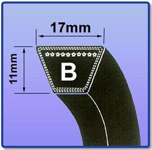 V BELT SIZES B22 - B55 17MM X 11MM V BELTS