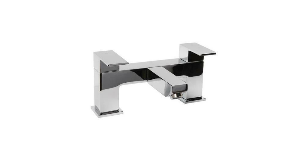 Modulo FRM003 rubinetto vasca da bagno Filler, ottone massiccio, cromato lucido, 25.2 x 17 x 15.6 cm