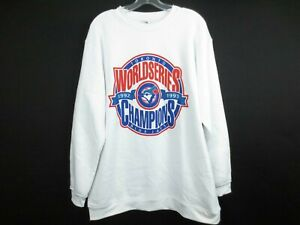 Vintage-TORONTO-BLUE-JAYS-1992-93-MLB-Baseball-Champions-Soft-Sweater-Size-XL