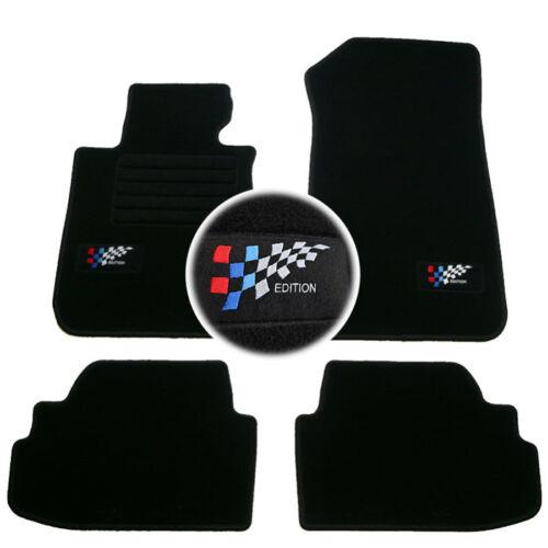 4 TAPIS SOL BMW SERIE 1 E81 3 PORTE 2007-2012 MOQUETTE LOGO EDITION M SUR MESURE