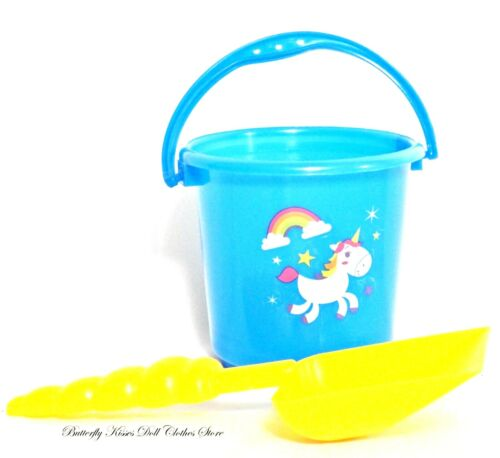 "Rainbow Unicorn Beach Bucket 18/"" Doll Clothes Accessory For American Girl Doll"