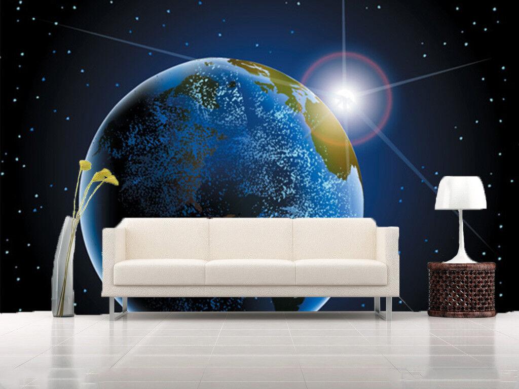 3D Beautiful Earth Creative 4 Wall Paper Wall Print Decal Wall Deco Indoor Mural