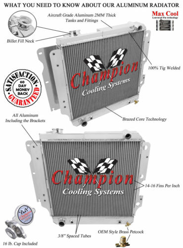 1996 1997 1998 1999 2000 2001 2002 2003 2004-06 Wrangler 3 Row WR Radiator