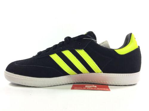 NEW adidas Originals SAMBA Q20604 Black Electricity Yellow White Mens Shoes s1