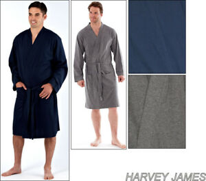 87bfb868c6 Image is loading Mens-Lightweight-Polyester-Cotton-Jersey-Dressing-Gown- Kimono-