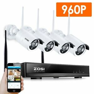 ZOSI-4CH-960P-HD-Funk-Video-Uberwachungssystem-Wireless-WLAN-Uberwachungskamera