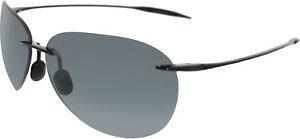 Maui-Jim-Men-039-s-Sugar-Beach-421-02-Black-Rimless-Sunglasses