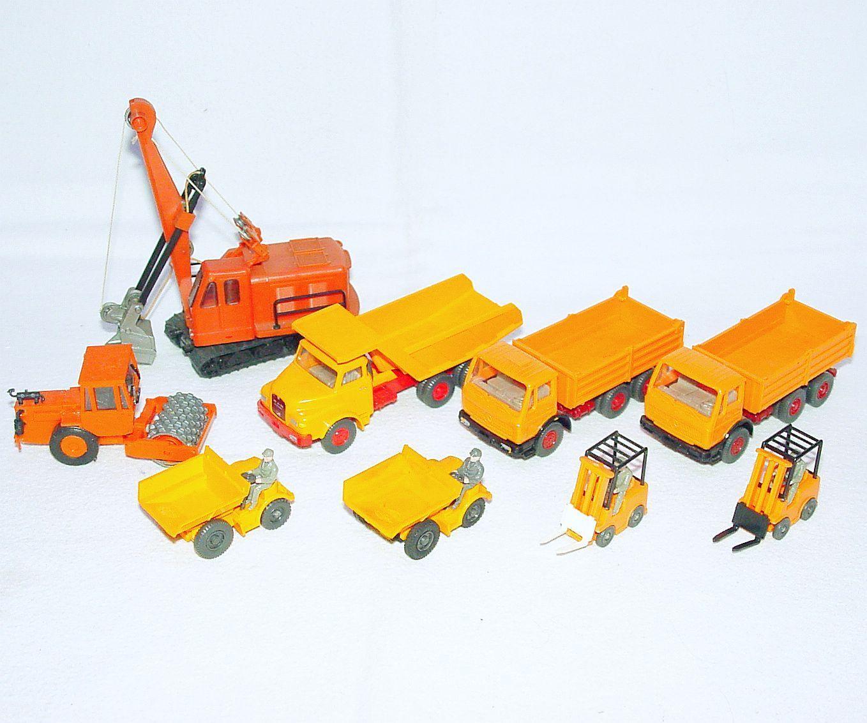 9x Wiking Ho 1 87 Pala Excavadora + + + Hombre Camión MB Tractor Camión + Lote Cocheretilla Elevadora