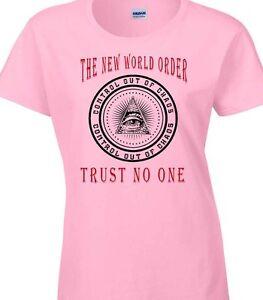 Mundo-Orden-camiseta-Mujer-Illuminati-Conspiracion-Politica-Grupo