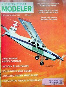 Vtg American Modeler Magazine Sept/Oct 1963 Pilatus Porter Plans m159