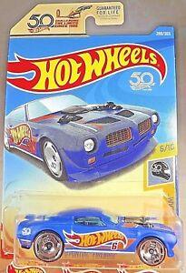 2018-Hot-Wheels-288-50th-Race-Team-6-10-039-70-Pontiac-Firebird-Azul-Ruedas-con-50th