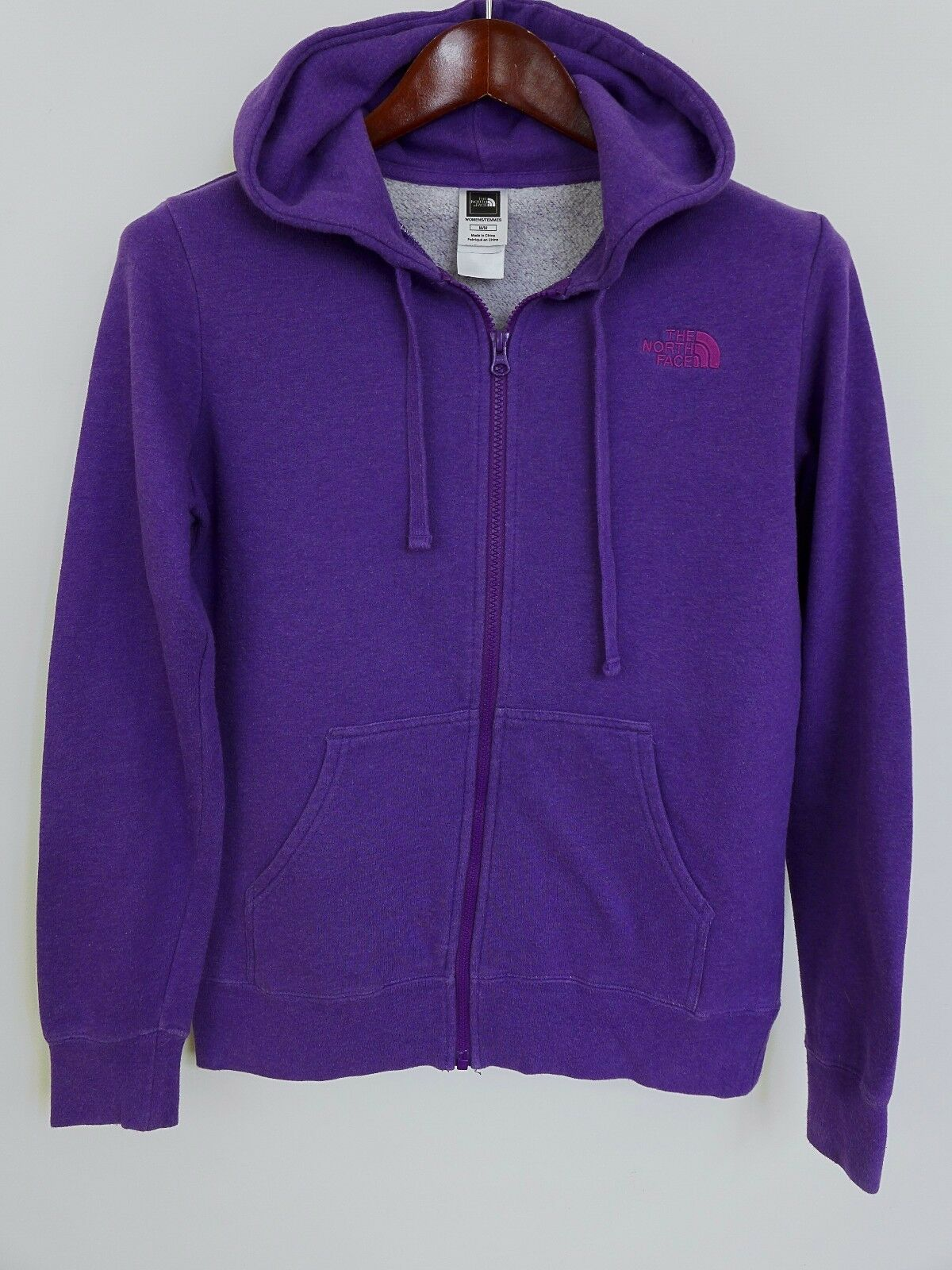 XBM281 Women Women Women The North Face Purple Zip Front Hooded Hoodie Size M 5f0d91