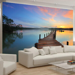 Pier Water Wallpaper Sea Lake Nature Picture Wall Murals Bedroom ...
