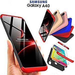 COVER-per-Samsung-Galaxy-A40-Fronte-Retro-360-ORIGINALE-ARMOR-VETRO-TEMPERATO